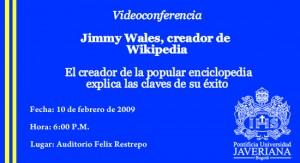 Jimmy Walles, creador de Wikipedia en videoconferencia