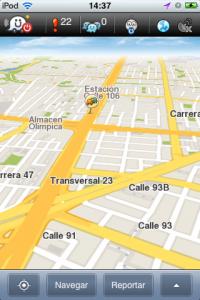 Calles de Bogotá en Waze