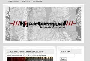 Primera versión de la interfaz gráfica de Hiperterminal.com