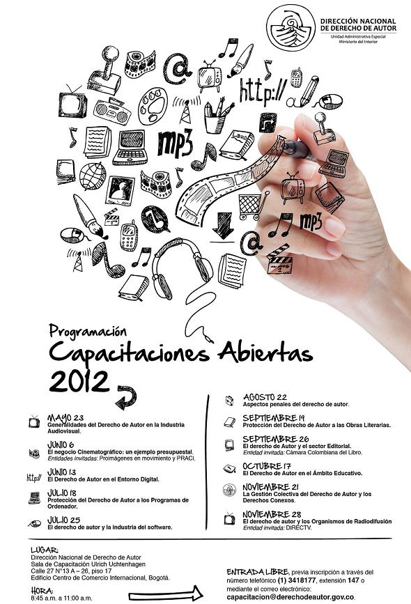 Capacitaciones 2012 Dirección Nacional de Dderecho de Autor