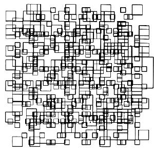 Random Squares de Charles Csuri