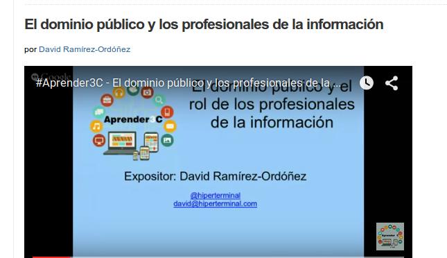 Conversando sobre dominio público en Aprender3C