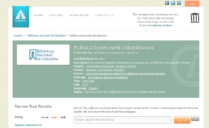 Archive-it de la Biblioteca Nacional de Colombia