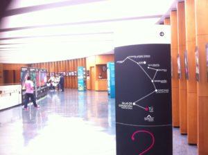 Cartel de entrada al Planetario
