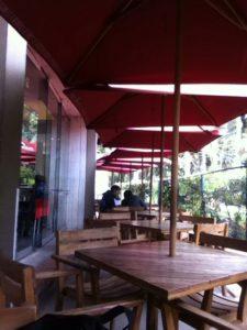 Restaurante El Observatorio, justo bajo la Astroteca