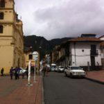 Universidad de La Salle, vista desde la entrada de la biblioteca Luis Ángel Arango