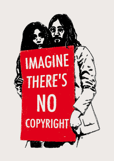 Imagine there is no copyright. Por Christopher Dombres.
