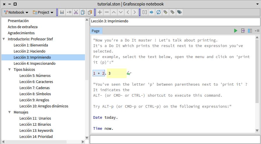 El Grafoscópio ejecutando código en vivo