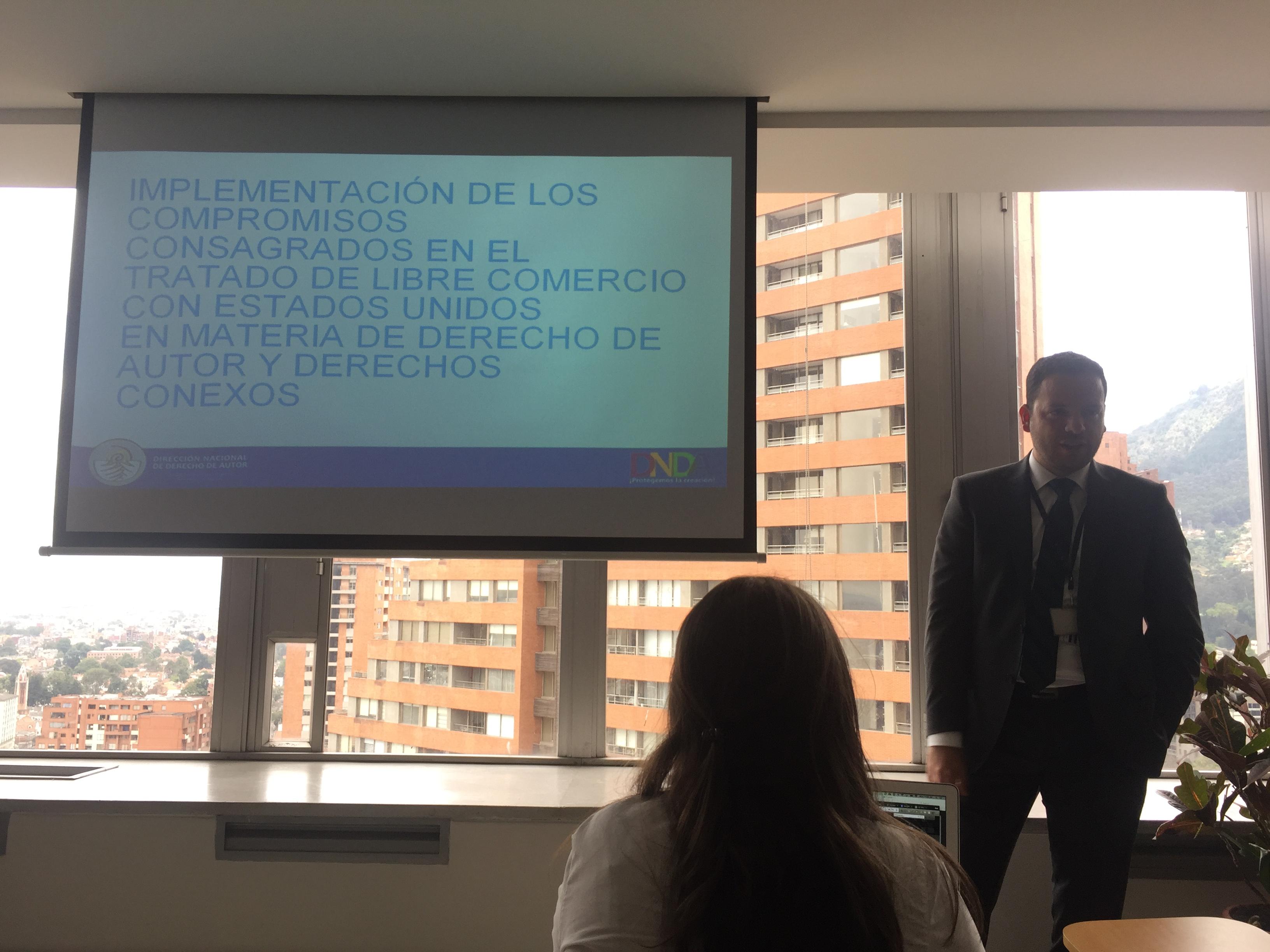 Presentación de la propuesta de proyecto de ley de implementación del TLC entre Colombia y Estados Unidos sobre derecho de autor, Bogotá, 2017