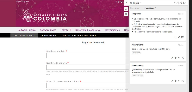 Analizando la plataforma de Software Público Colombia en el Dataweek 9