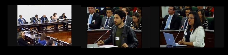 Bibliotecarios en audiencia pública en el Congreso de la República de Colombia en 2018