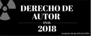 Infografía sobre la actualización al derecho de autor en 2018 (Colombia), por estudiantes de Ciencia de la Información - Bibliotecología de la Javeriana