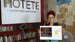 Rosana, una promotora de lectura del Chocó (Colombia) pidiendo más y mejores excepciones y limitaciones para bibliotecas, archivos y museos