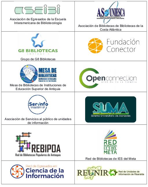 Instituciones de #BibliotecariosAlSenado que apoyan la propuesta