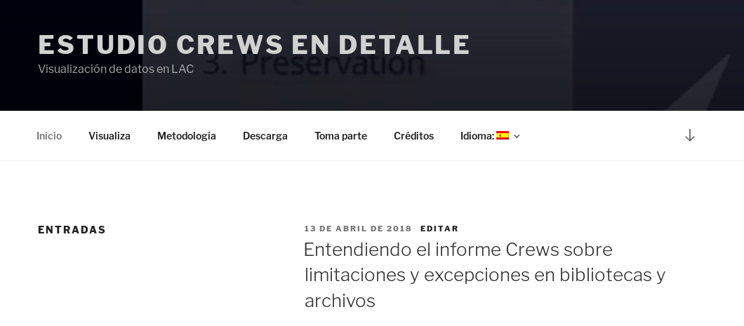 Micrositio del Estudio Crews en detalle