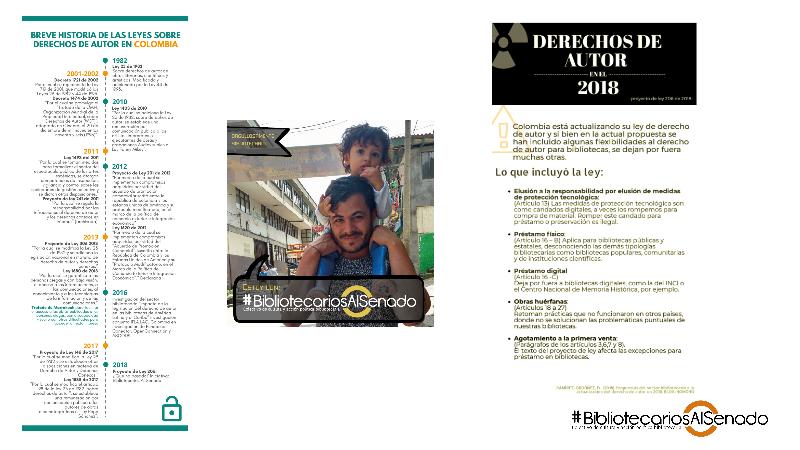Diapositiva de la presentación de #BibliotecariosAlSenado en el Jueves de ASEIBI