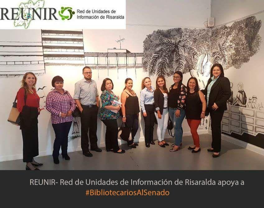 Grupo de #BibliotecariosAlSenado de la Red de Unidades de Información de Risaralda REUNIR, 2018