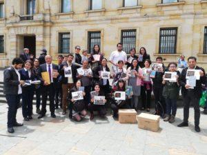 Grupo de #BibliotecariosAlSenado presente en el Senado de la República en Bogotá, 2018