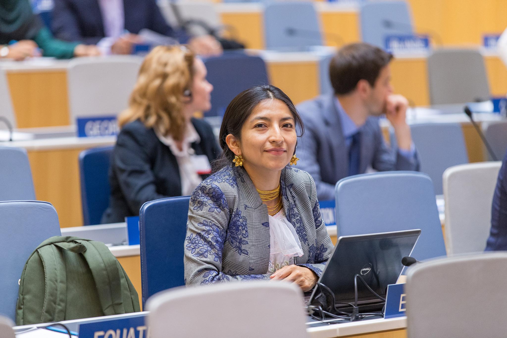 La delegada de Ecuador en el SCCR36, Ñusta Maldonado. Imagen tomada de Flickr por WIPO