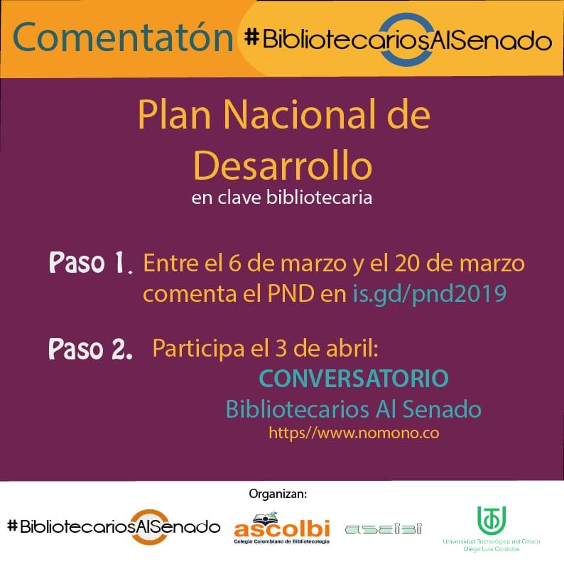 Comentatón del Plan Nacional de Desarrollo de Colombia por #BibliotecariosAlSenado