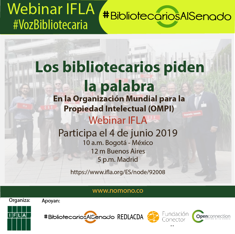 La #VozBibliotecaria de IFLA se escuchará en la OMPI.