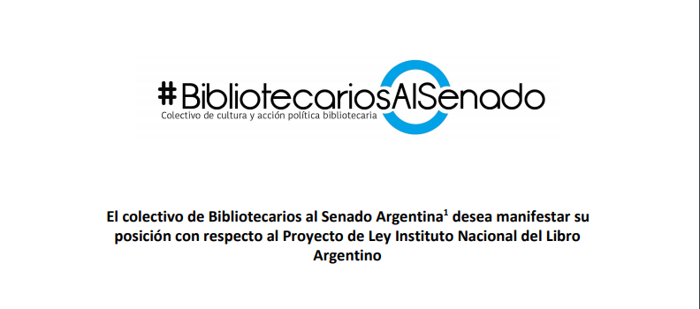 #BibliotecariosAlSenado