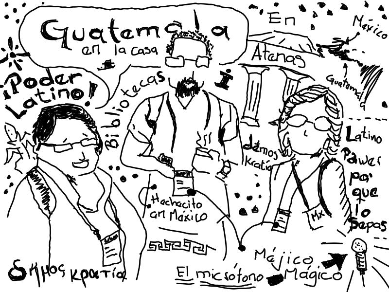 Colegas de Guatemala y México en el Congreso Mundial de IFLAn #WLIC2019