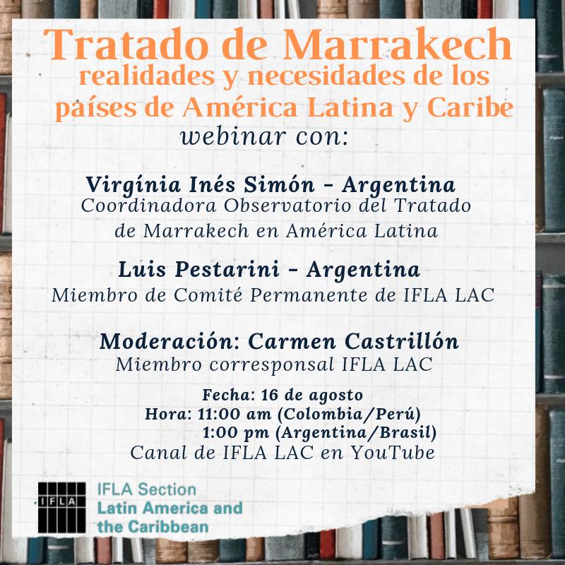 Webinar sobre el Tratado de Marrakech, en 2019