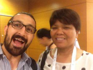Selfie con Ellen Tise, presidenta de IFLA 2009 - 2011