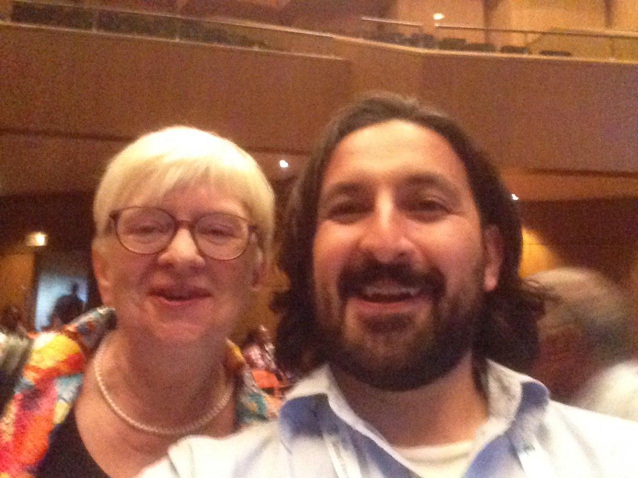 Selfie con Claudia Lux (Alemania), presidenta de IFLA 2007 a 2009