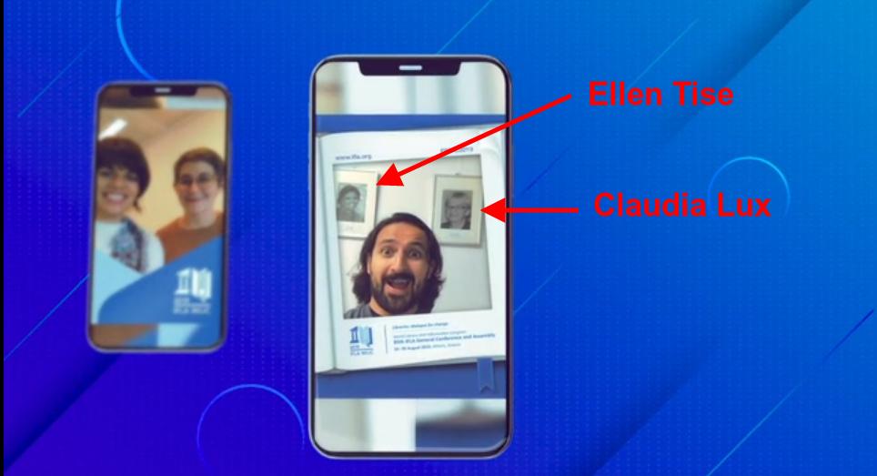 Selfie con Claudia Lux y Ellen Tise