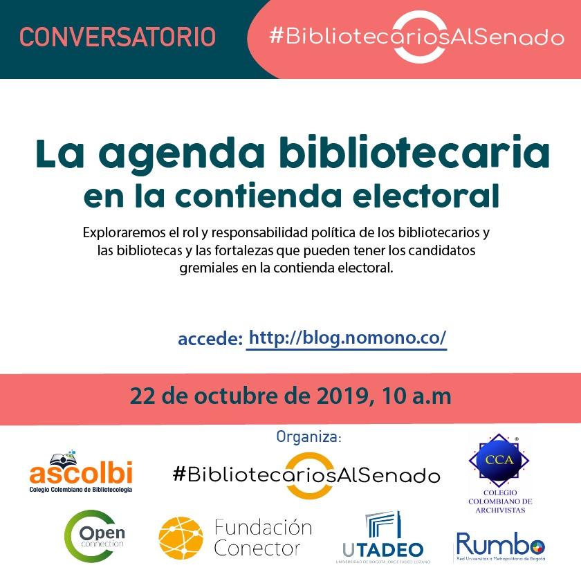 La agenda bibliotecaria en la contienda electoral colombiana, por #BibliotecariosAlSenado