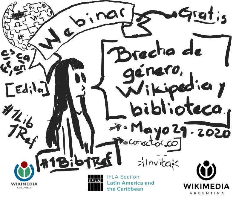 Webinar: brecha de género, Wikipedia y biblioteca